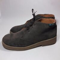 Men's Eastland Brown Nubuck Brown Leather Ankle Boots-10 M