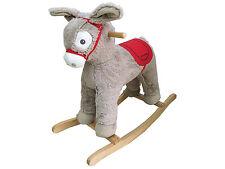 Dunjo® Schaukelpferd Esel Grau mit Soundmodul