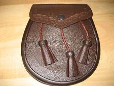 Kilttasche Kilt Tasche Sporran Schottland aus Leder mit Gürtel NEU