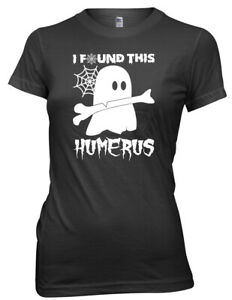 I Found This Humerus Halloween Womens Ladies Funny T-Shirt