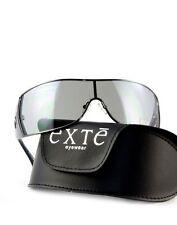 Exté EX71202 Herren Damen Sonnenbrille Blau modern Glas sportlich + Etui