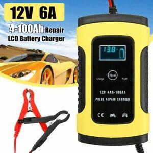 Chargeur Batterie Voiture Intelligent Rapide Auto Moto 6A 12V Ecran LCD