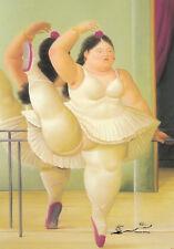 Postkarte: Botero - Ballerina am Geländer