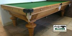 "SNOOKER Table 9 Foot  Antique ""YORK"" Style Restored by BLATT Billiards, New York"