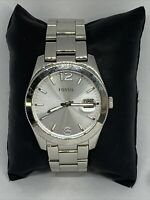 Fossil FS4735 Men Silver Stainless Steel Analog Dial Quartz Genuine Watch HK1099
