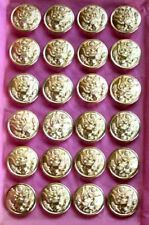 "24 WWII Gilt US Army Buttons SCOVILL MF'G CO. WATERBURY 22 mm 7/8"" Unused"