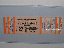 Yusef Lateef / Aurora Unused 1979 Concert Ticket Austin Texas Awhq Mega Rare