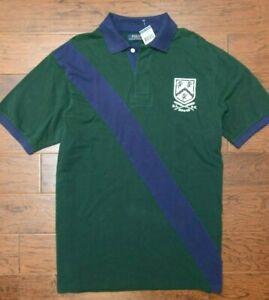 Polo Ralph Lauren Men's Diagonal Stripe Olive Cotton Polo Shirt Big & Tall XLT