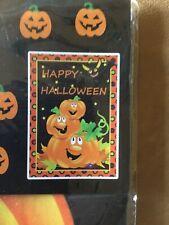 """Happy Halloween Yard Flag Decoration 28"""" X 40"""". Nantucket Disturbing"""
