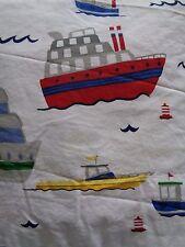 New Pottery Barn Sailboats Boats 4 Piece Full Sheet Set