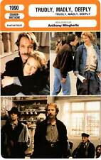 FICHE CINEMA : TRUDLY MADLY DEEPLY - Stevenson,Rickman,Minghella 1990