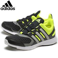 UK SIZE 4 - ADIDAS HYPERFAST RUNNING PE CASUAL FASHION TRAINERS - BLACK