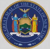 Seal Cross stitch chart Flag Badge USA State Montana pattern Emblem