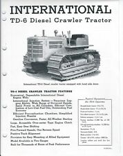 Equipment Brochure - IH - TD-6 - Diesel Crawler Tractor - c1950's (E3859)