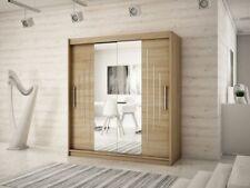 Wardrobe YORK 1 - 150 with Sliding Doors Hanging Rail Shelves New