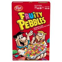 NEW POST FRUITY PEBBLES CEREAL 15 OZ BOX FRUIT FLAVORED RICE FREE WORLD SHIPPING