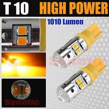 2x T10/921 High Power 35W Amber Yellow Dome Map Door Interior LED Light Bulbs