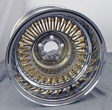 """Wicked Wires Gold 60 Spoke 13"""" Wheel Rim - 5x100mm Bolt Pattern - Part # 376023"""