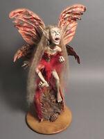 Fantasy Gothic Art Sculpture Statue Scary Zombie Demon Fairy Decor Signed 1992