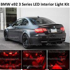 RED PREMIUM BMW 3 SERIES E92 INTERIOR PURE FULL UPGRADE LED LIGHT BULBS KIT