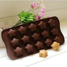 Silicone Cake Decorating Moulds Candy Cookies Chocolate Baking Mold 15-Star J