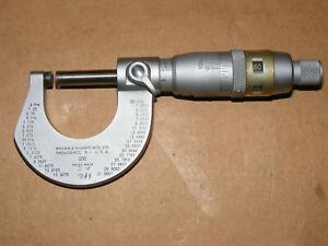 """Brown & Sharpe 0-1"""" .0001"""" Micrometer #200"""