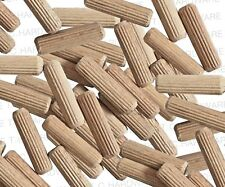 20 x 8mm x 30mm  HARDWOOD GROOVED CHAMFERED WOODEN DOWELS