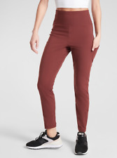 ATHLETA Trekkie Hybrid Crop Tight Leggings 2 (XS) Cognac Brown | Hiking Pants