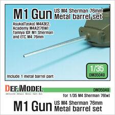 DEF. MODEL, DM35049, US M4 Sherman M1 Gun metal barrel set , 1:35