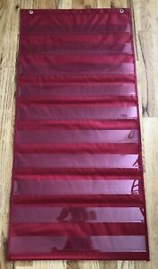 Lakeshore Space-Saver Pocket Chart - Red - AAA808 - Great Condition