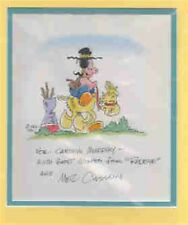Mel Casson signed image. Double matted (Redeye) cartoonist. Nice!