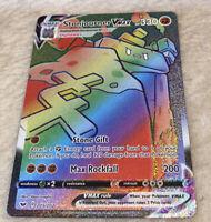 Pokemon Stonjourner VMAX 205/202 Sword & Shield Full Art Rainbow Pristine Gem