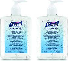 PURELL Advanced 70% Alcohol Hand Sanitizer Pump Top Bottle 2x 500ml Bottles
