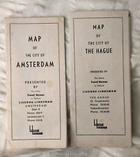 1950s Maps of Amsterdam & The Hague