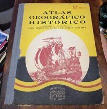 1939 ATLAS HISTORICO GEOGRAFICO BRAZIL INSTITUTO DE AGOSTINI PORTUGUESE BOOK