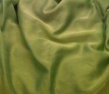 "Faux Silk CHIFFON Fabric IRIDESCENT APPLE GREEN 12""x27"" remnant"