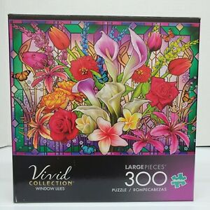 """Buffalo Vivid """"Window Lillies"""" Spring Easter Flowers 300 Large Pieces Age 14+"""