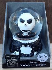 Nightmare Before Christmas Jack Skellington Head Musical Snomotion Water Globe