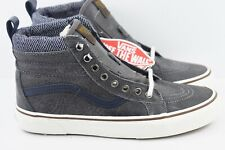 cb74885f95 Vans SK8 Hi MTE Mens Size 8 Skate Shoes Charcoal Herringbone