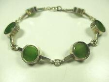 From CREATEUR bracelet 925 sterling argent jade 70er silver bracelet Denmark DD N