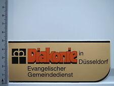 Aufkleber Sticker Diakonie - Düsseldorf - 70er Jahre Evangelischer Dienst (5651)