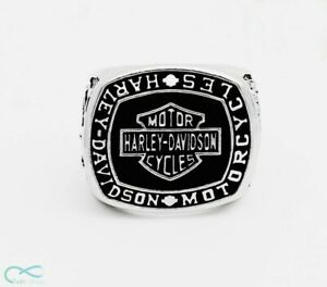 Ring of Harley Davidson Motor Cycles Badass Silver Handmade - All sizes