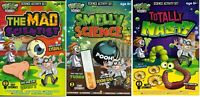 Set of 3 Weird Science Activity Sets MAD, SMELLY, NASTY Scientist Experiments 97