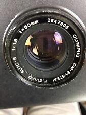 Olympus OM-System F. Zuiko Auto-S 1:1.8 f=50mm Camera Lens Nice