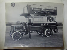 """ENG746 - The TRAMWAYS M.E.T. OMNIBUS Co - GENUINE Large Early Photo 10.5"""" x 8"""""""