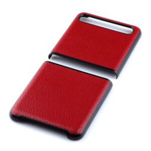 For Samsung Galaxy Z Flip PC Leather Hard Protective Cases Back Cover Phone Case