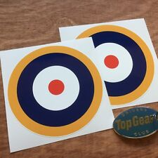 RAF Roundel WW2 Car Motorcycle Model Aeroplane Stickers Decals 100mm 2 off