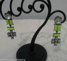 Rhinestone Screw Back (pierced) Drop/Dangle Fashion Earrings