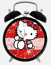 "Hello Kitty Alarm Desk Clock 3.75"" Home or Office Decor W128 Nice For Gift"