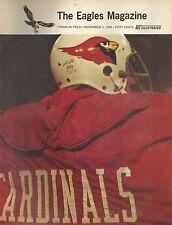 ORIGINAL PROGRAM PHILADELPHIA EAGLES VS ST  LOUIS CARDINALS NOVEMBER 3, 1968